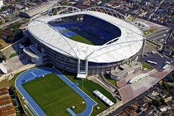 Imagem aérea do estádio João Havelange na cidade do Rio de Janeiro